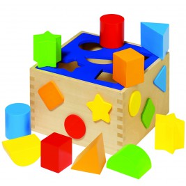 Box of wooden shapes Goki