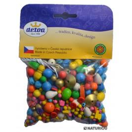 100 grammes de Perles colorées en bois Detoa