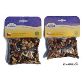 70 grammes de Perles colorées Naturelles Detoa