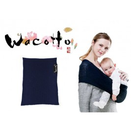 Baby carrier Sling Wacotto navy blue