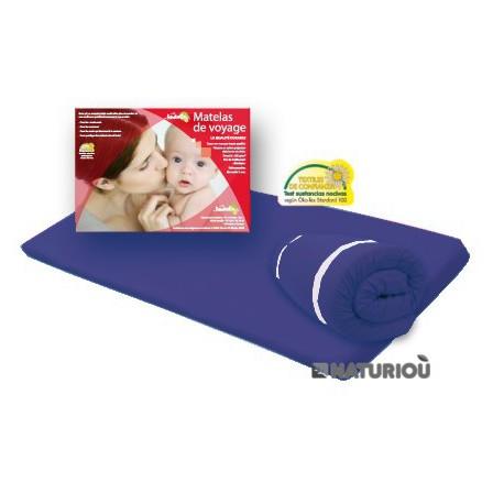 matelas de voyage roul pour lit parapluie bleu marine 60x120 - Matelas Pour Lit Parapluie
