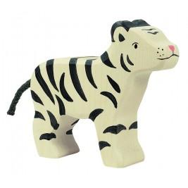 Petit tigre blanc en bois Holztiger