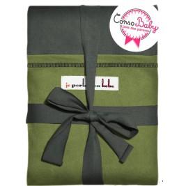 Echarpe de portage JPMBB Gris-vert poche Pistache