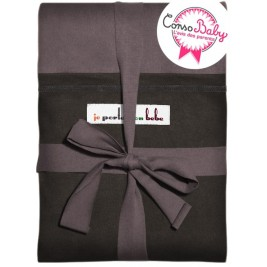 The original JPMBB Baby Wrap Glazed Brown, pocket Black Koffee