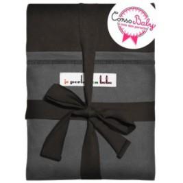The original JPMBB Baby Wrap Black Koffee, pocket Charcoal Black