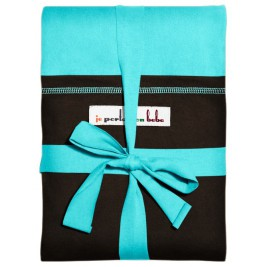The original JPMBB Baby Wrap Turquoise, pocket Black Koffee