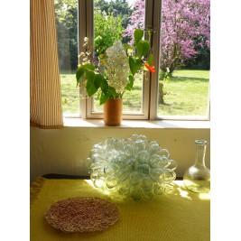 Grande lampe grappe de verre soufflé Tadé