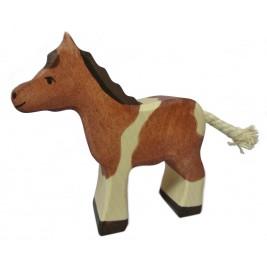 Petit poney en bois Holztiger
