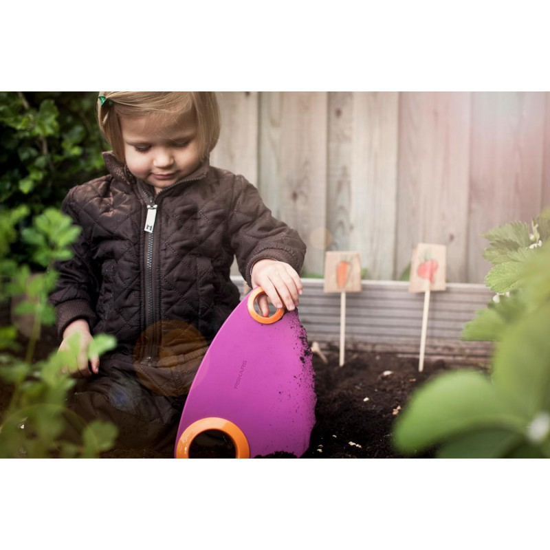 Set de petits outils jardin pour enfants fiskars naturiou - Outillage de jardin fiskars ...