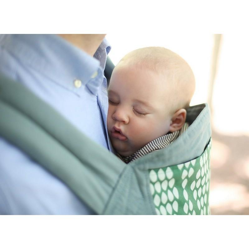 0014db36e9e1 ... Coton Bio Verde  Bébé dort paisiblement dans le BOBA 4G Verde ...