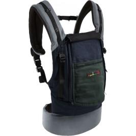 PhysioCarrier JPMBB Coton Elephant- BLEU poche gris vert