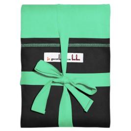 Echarpe Vert azur poche Noir par JPMBB