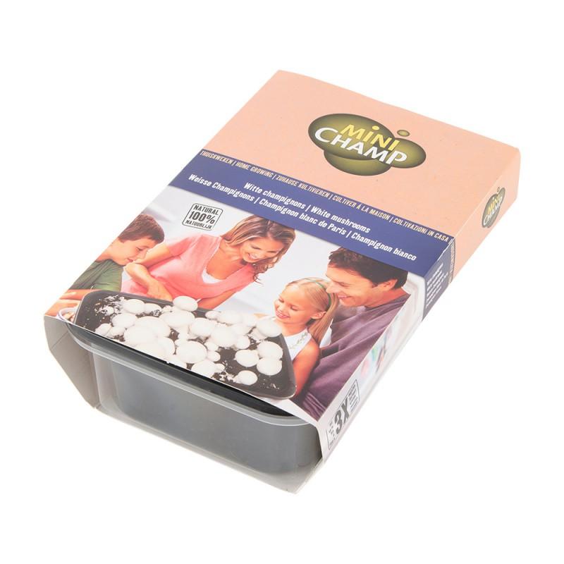 kit 3 litres culture champignons blancs de paris naturiou. Black Bedroom Furniture Sets. Home Design Ideas