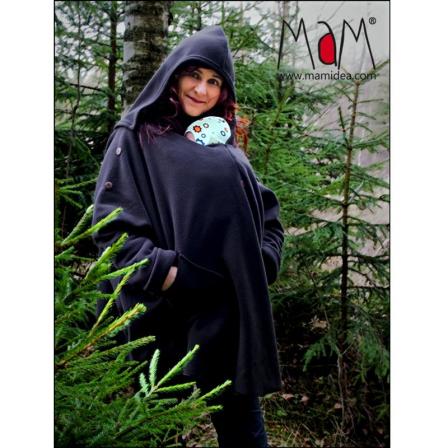 0225b9923e5 Poncho de portage Aiska Mam – Black S M