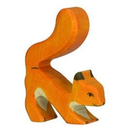 Ecureuil roux jouant Holztiger