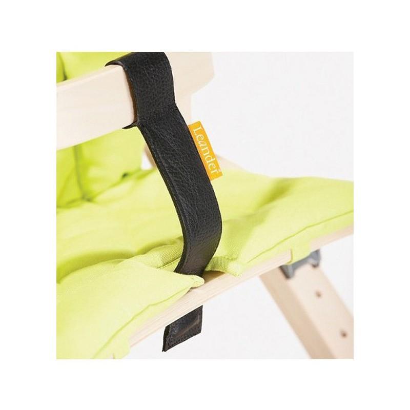 Coussin rouge pour chaise haute volutive leander naturiou for Coussin pour chaise haute bebe
