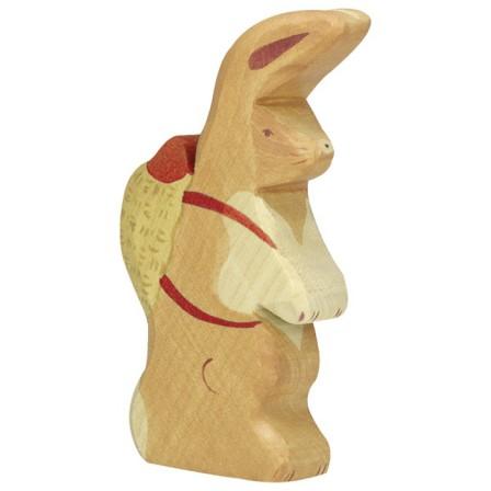 Lapin de Pâques avec sac à dos Holztiger