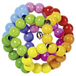 Rattle ball rainbow flexible Heimess