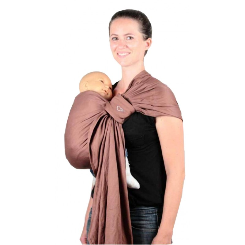a6a6bad755f LLA Ring Sling Daïcaling Chocolate - Naturiou
