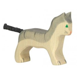 Petit chat gris Holztiger