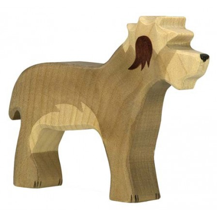 Chien Bobtail en bois Holztiger