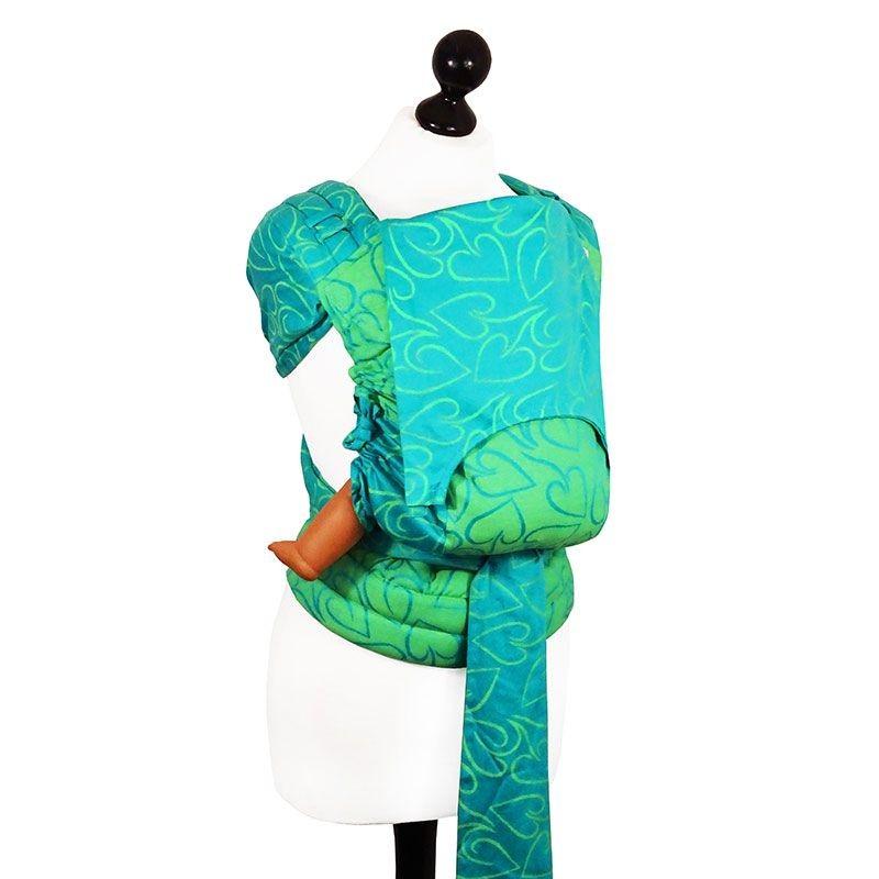 ... Fidella Fly-Taï Coeur, Vert et Turquoise Nouvelle taille  Porte-bébé ... 2d1e336be31