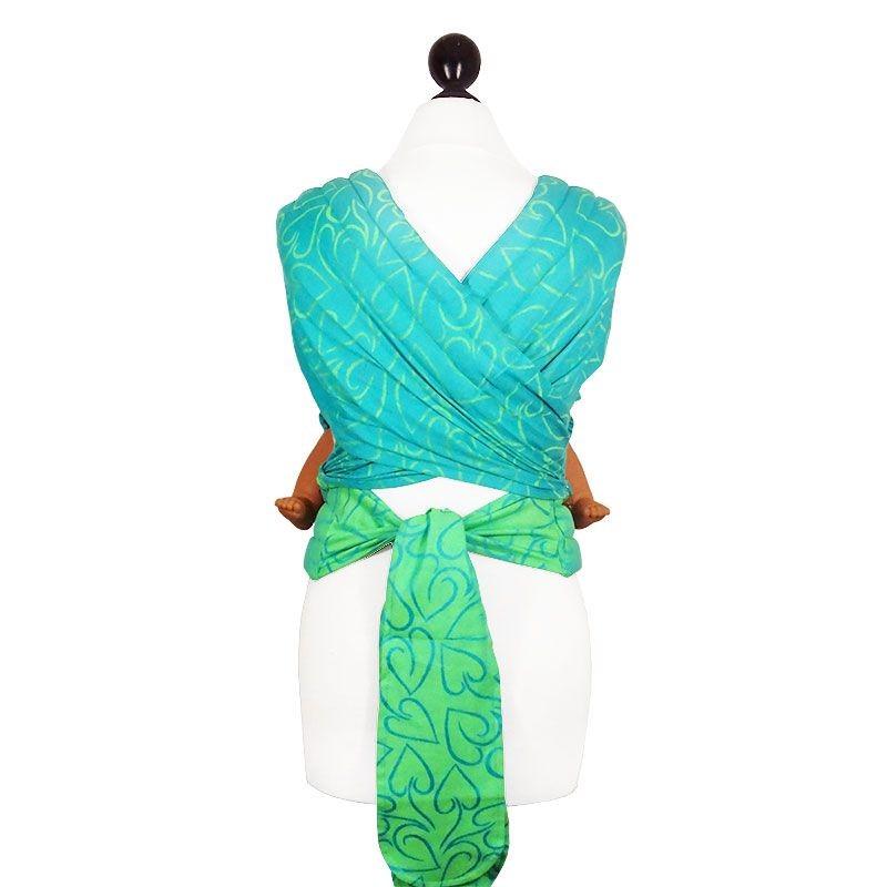 Porte-bébé Fidella Flytai nouvelle taille coeur, vert et turquoise 6293d338d84