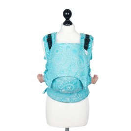 Fidella Fusion baby carrier with buckles - Masala scuba blue Toddler size
