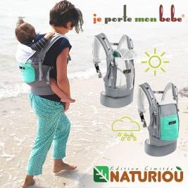 PhysioCarrier JPMBB Série limitée Naturioù éléphant poche Vert azur