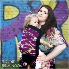 Porte-bébé Madame Googoo Neo Print Toddler Purple Night