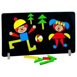 Puzzle magnètique: les clowns