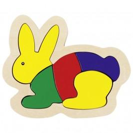 Puzzle lapin en bois par Goki
