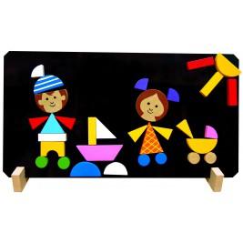 Puzzle magnètique: les enfants