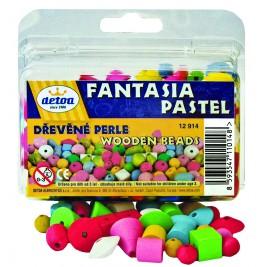 Perles fantaisie pastel en bois