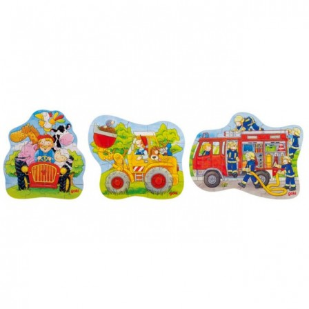 Puzzle wooden 18, 20 or 22 pieces Goki
