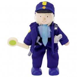 Poupée flexible Goki - Policier