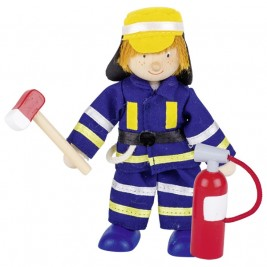 Poupée flexible Goki - Pompier