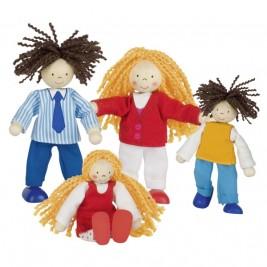 Famille branchée, poupées articulées Goki