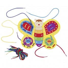 Papillon à lacer en bois Goki