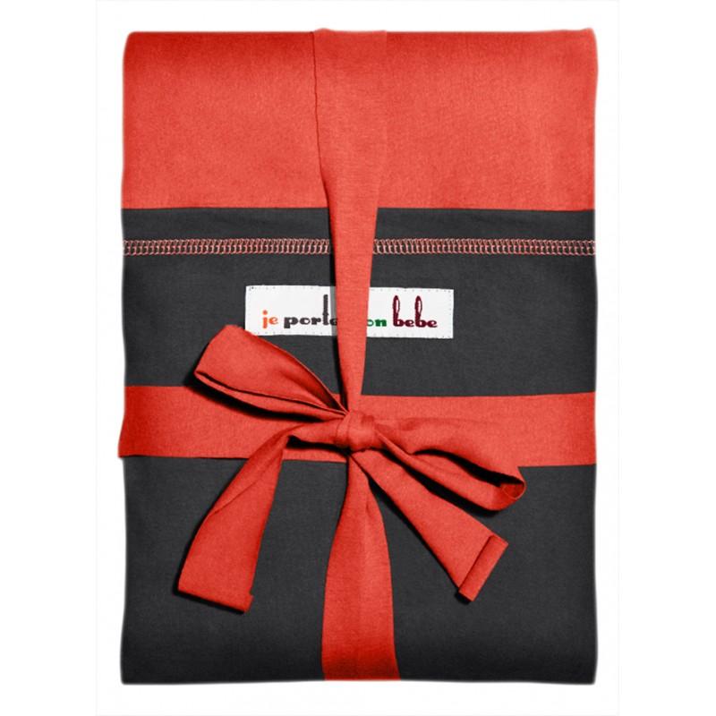 echarpe originale de jpmbb rouge couture poche anthracite. Black Bedroom Furniture Sets. Home Design Ideas