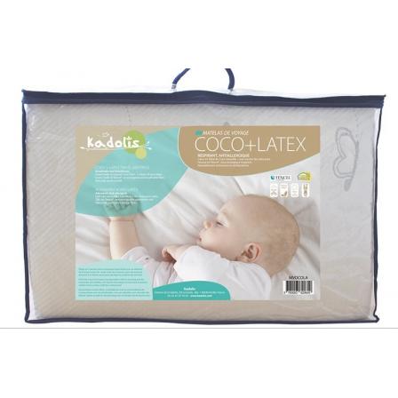 matelas de voyage b b coco latex kadolis 60x120 cm. Black Bedroom Furniture Sets. Home Design Ideas
