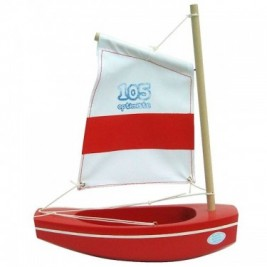 Optimiste Tirot rouge voile blanche 22 cm modèle 105