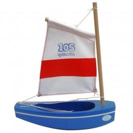 Optimiste Tirot bleu voile blanche 22 cm modèle 105
