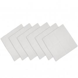 Lot de 6 couches carrées coton Kadolis