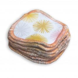 Carrés démaquillants lavables bio Naturiou soleil 9 x 9 cm