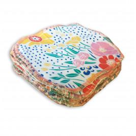 Lingettes lavables bio Naturiou bambou et coton Fleur