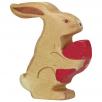 Lapin de Pâques assis, Holztiger