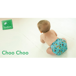 Totsbots TE1 Easyfit Star V5 Choo Choo - Couche lavable