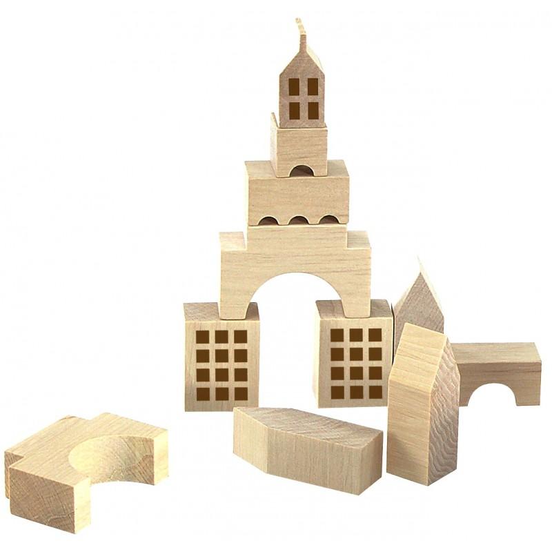 jeux creatifs en bois  jeu construction la ville