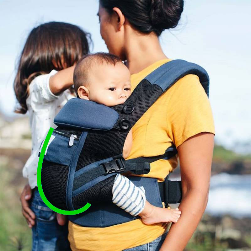 Ergobaby Adapt Cool Air Mesh Black Blue Baby Carrier Evolutionary